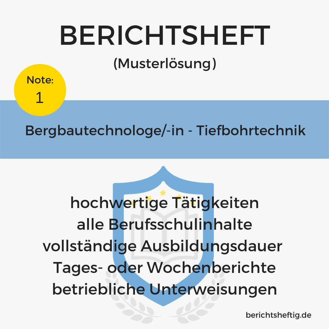 Bergbautechnologe/-in – Tiefbohrtechnik