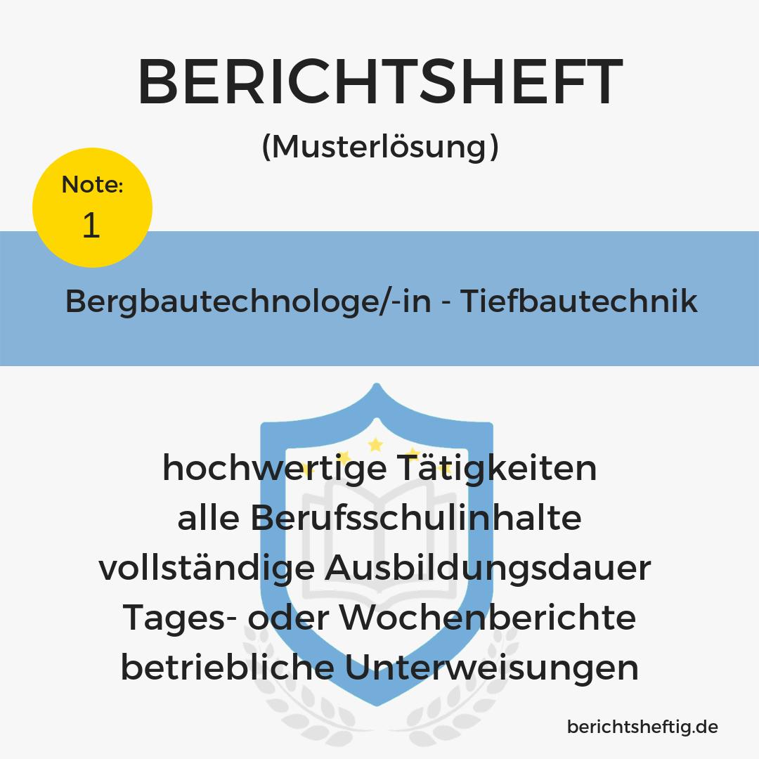 Bergbautechnologe/-in – Tiefbautechnik