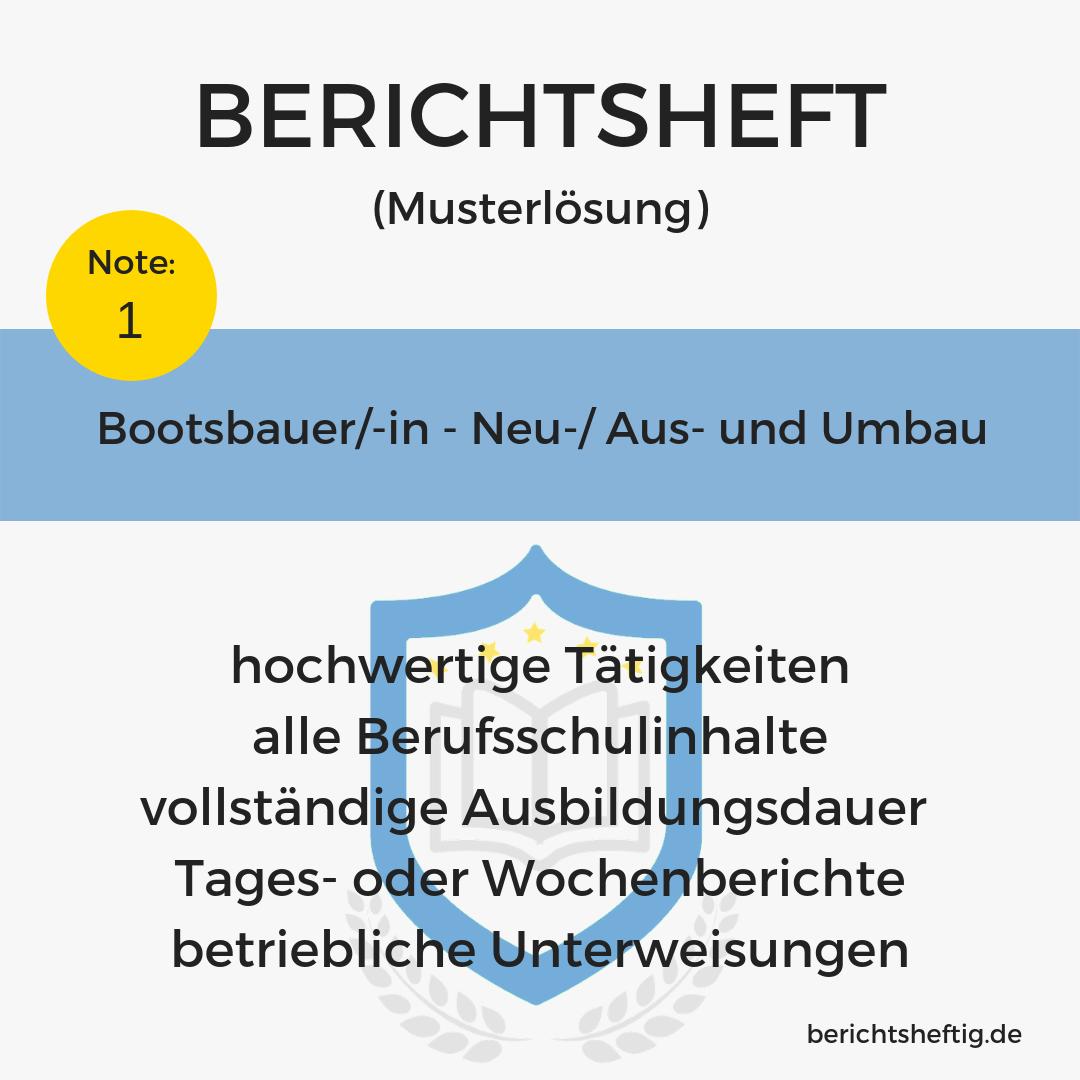 Bootsbauer/-in – Neu-, Aus- und Umbau