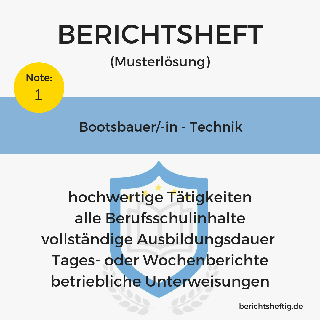 Bootsbauer/-in – Technik