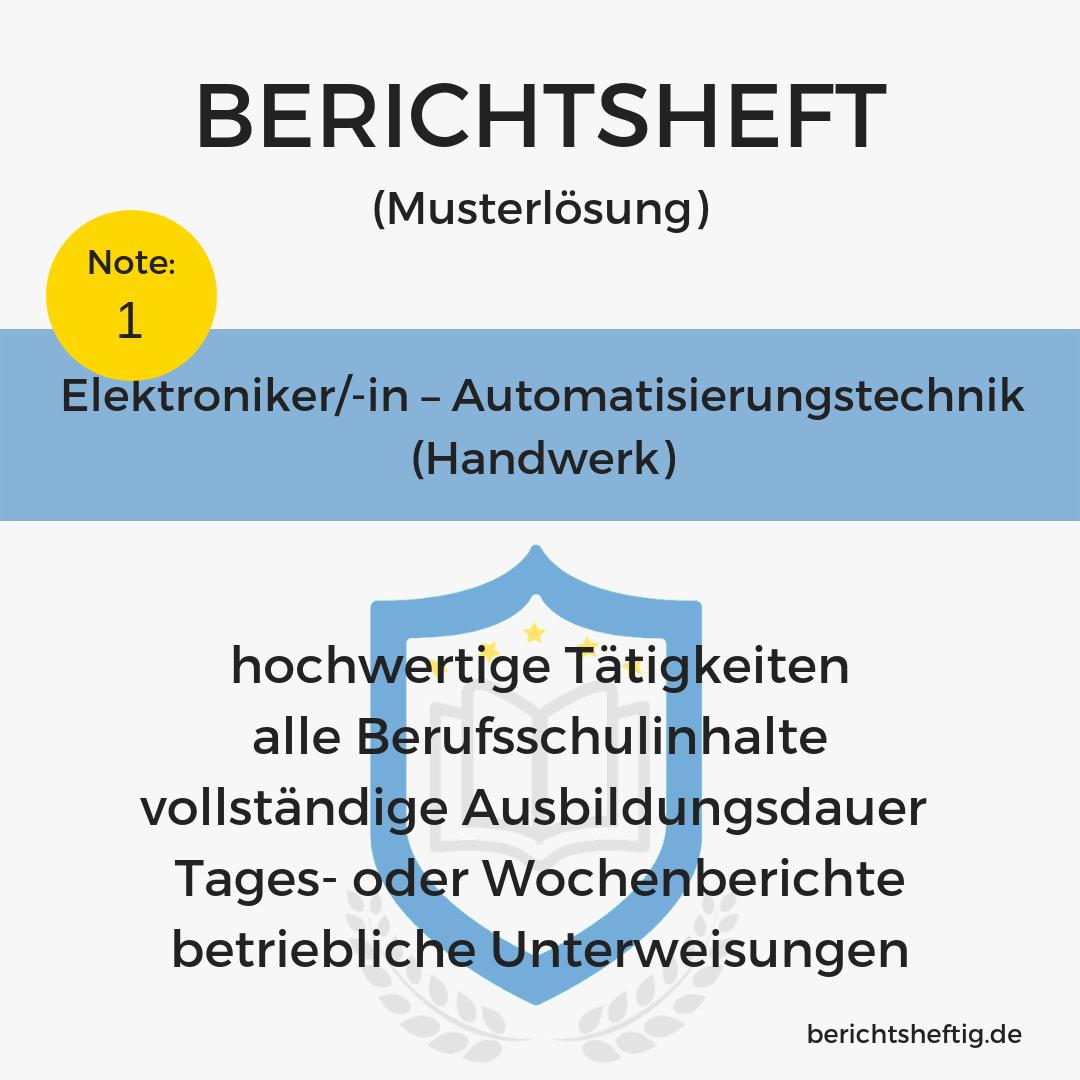 Elektroniker/-in – Automatisierungstechnik