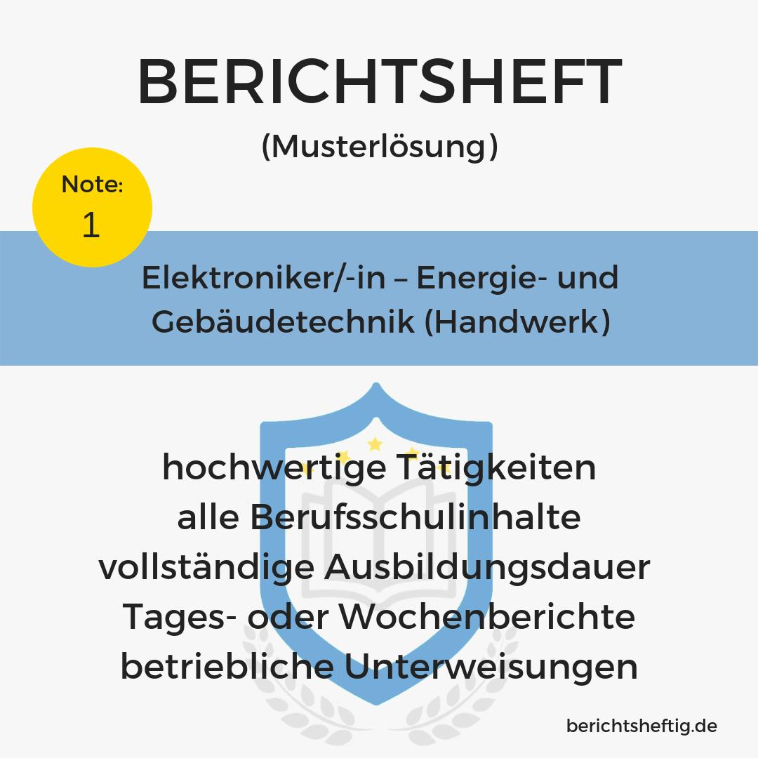 Elektroniker In Energie Und Gebaudetechnik Fertiges Berichtsheft Download