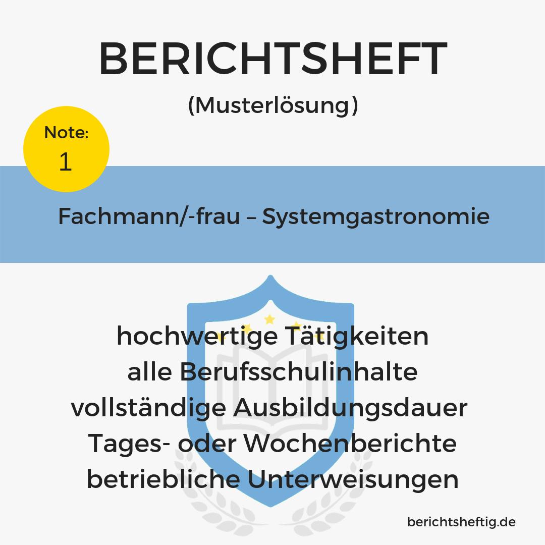 Fachmann/-frau – Systemgastronomie