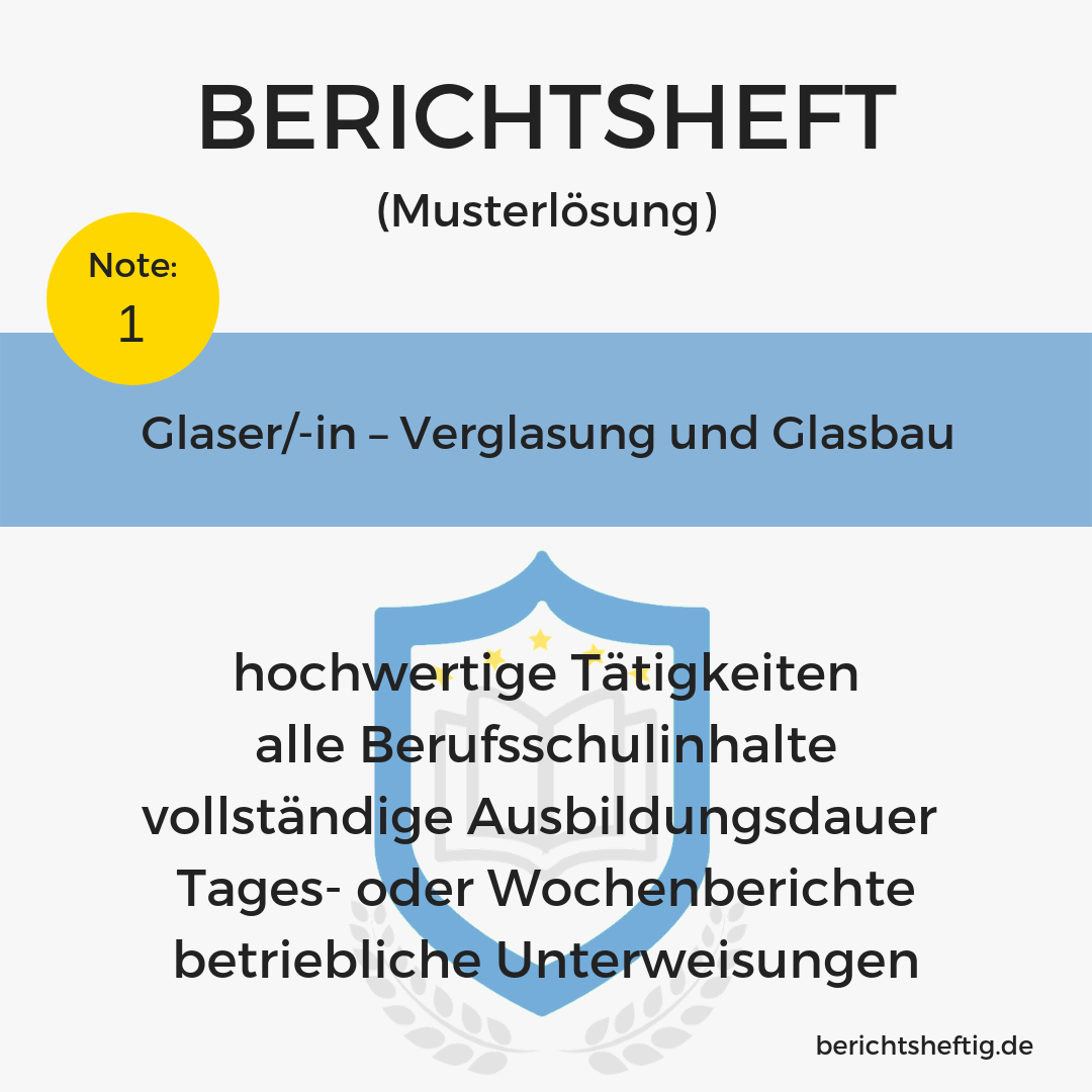 Glaser/-in – Verglasung und Glasbau