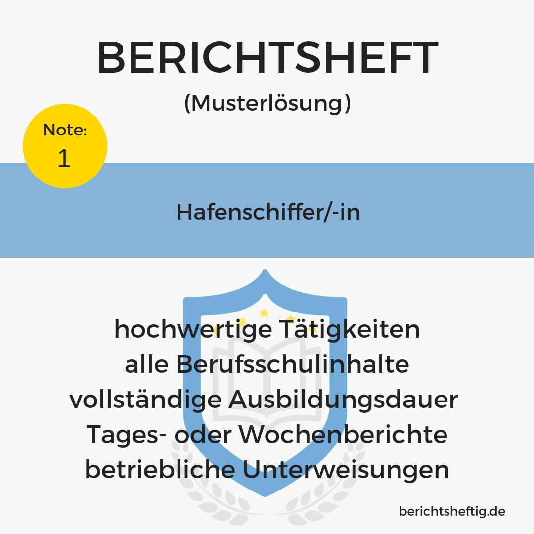 Hafenschiffer/-in