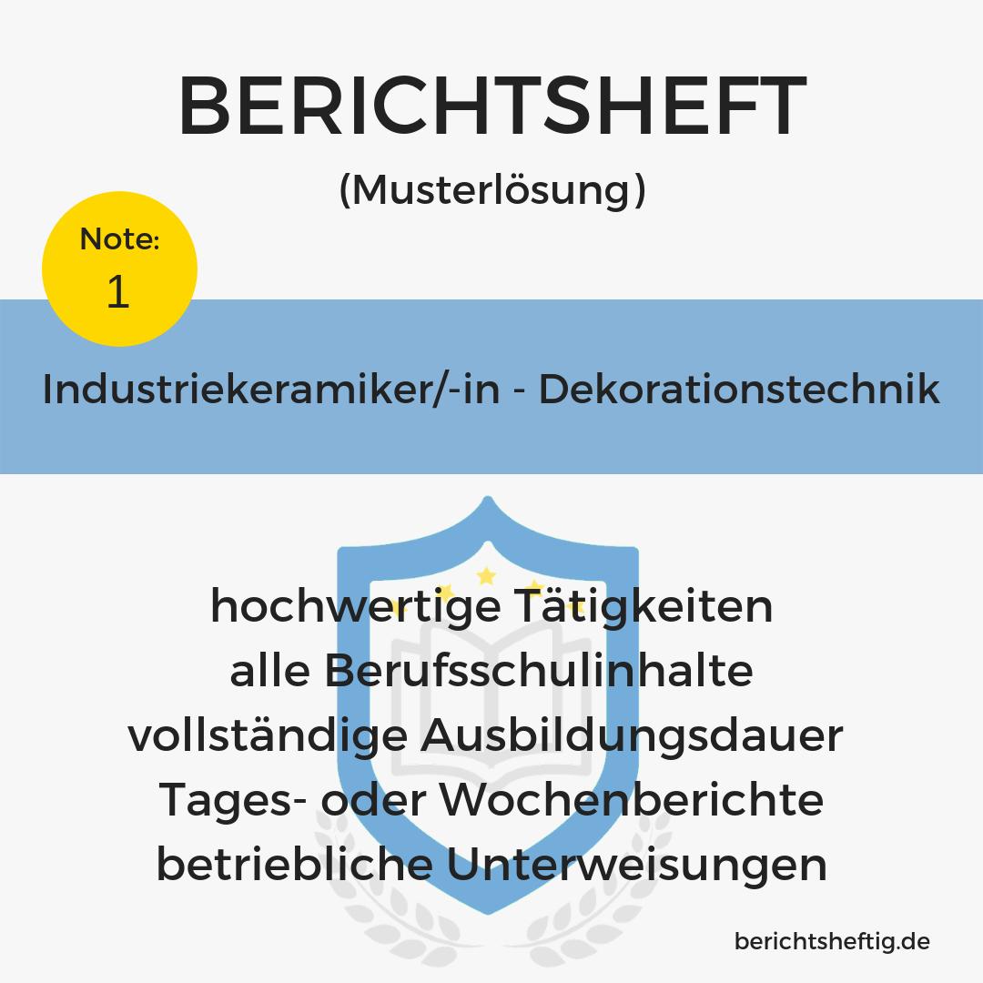 Industriekeramiker/-in – Dekorationstechnik