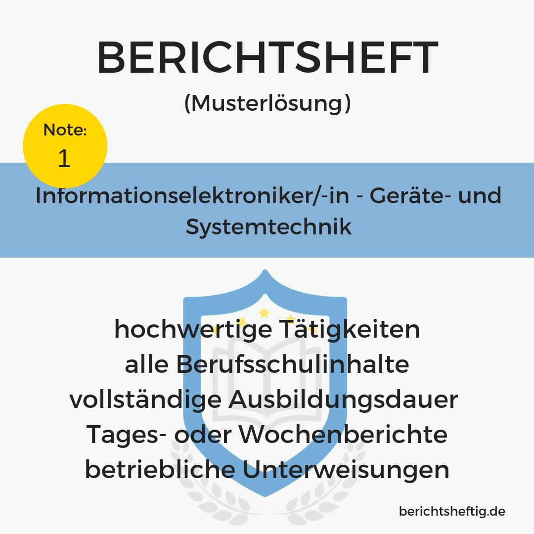 Informationselektroniker/-in – Geräte- und Systemtechnik
