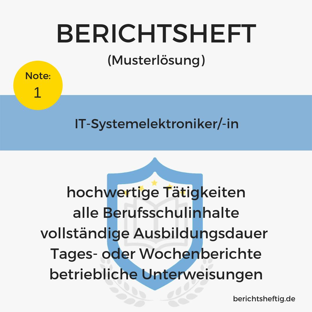 It System Elektroniker In Berichtsheftigde