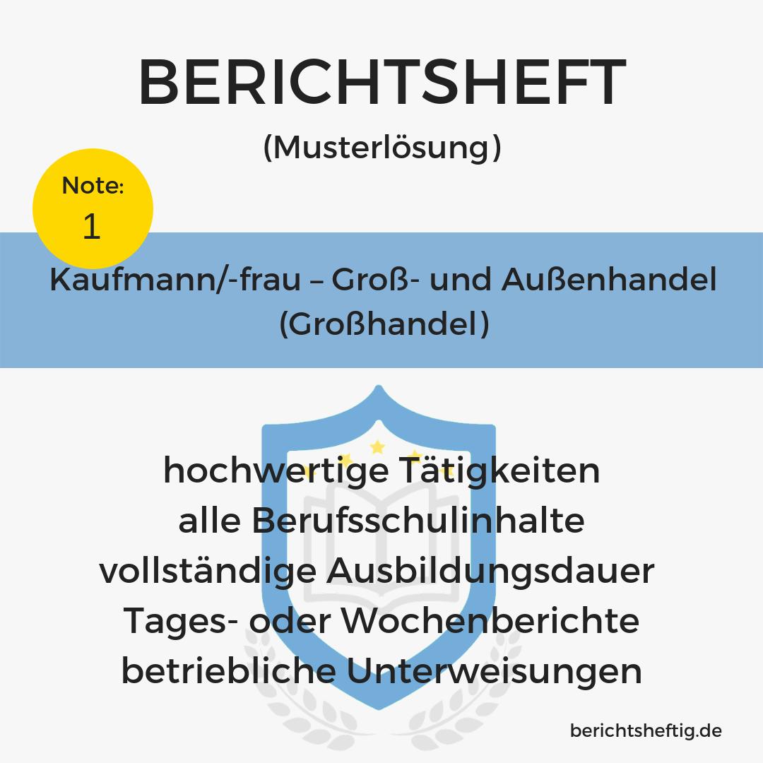 Kaufmann/-frau – Groß- und Außenhandel (Großhandel)