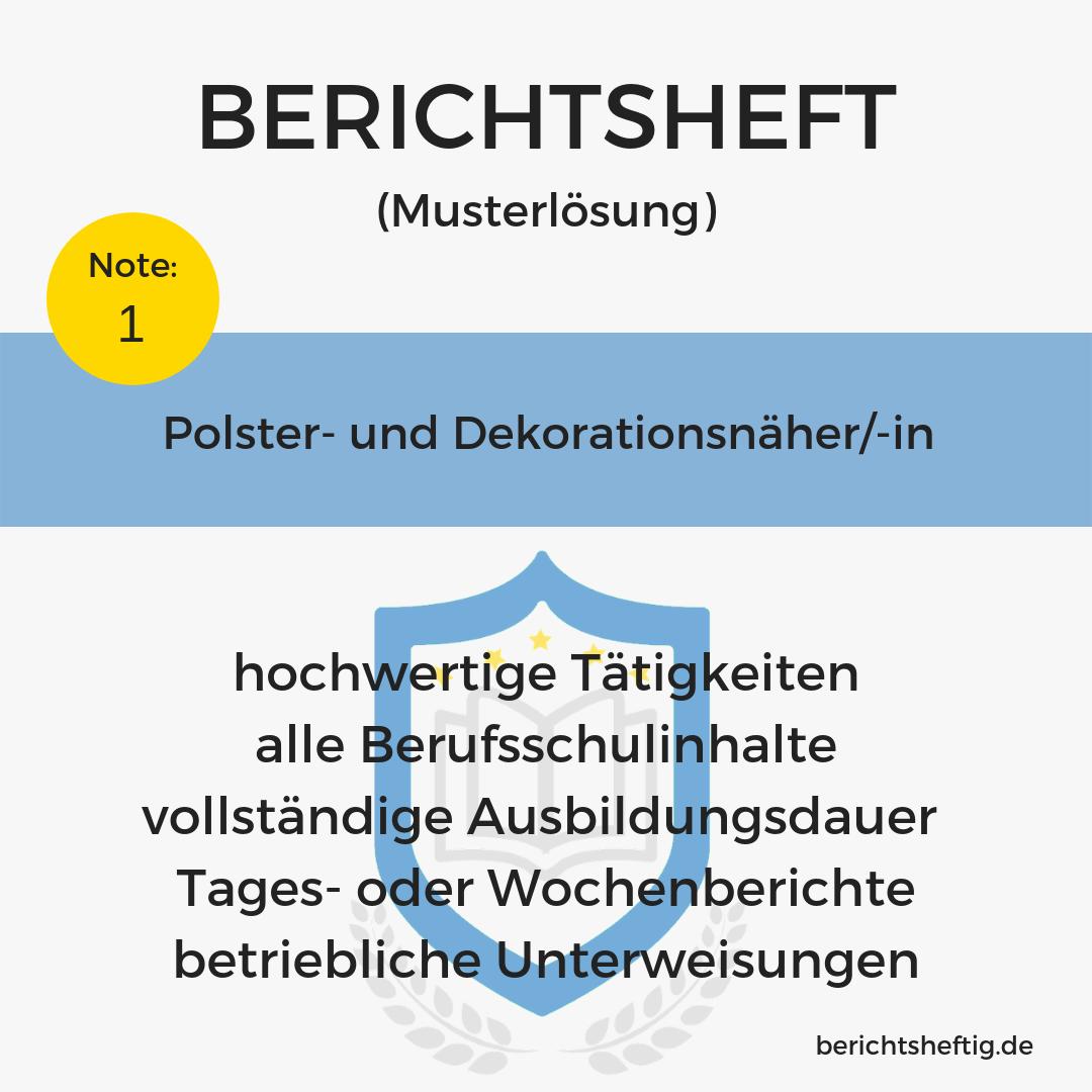 Polster- und Dekorationsnäher/-in