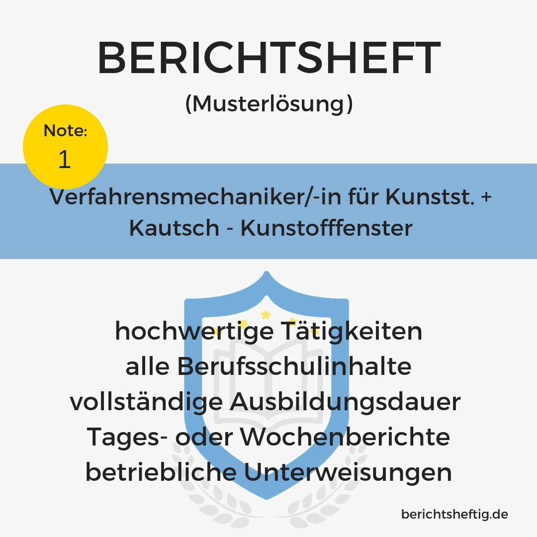 Verfahrensmechaniker/-in für Kunstst. + Kautsch. – Kunstofffenster