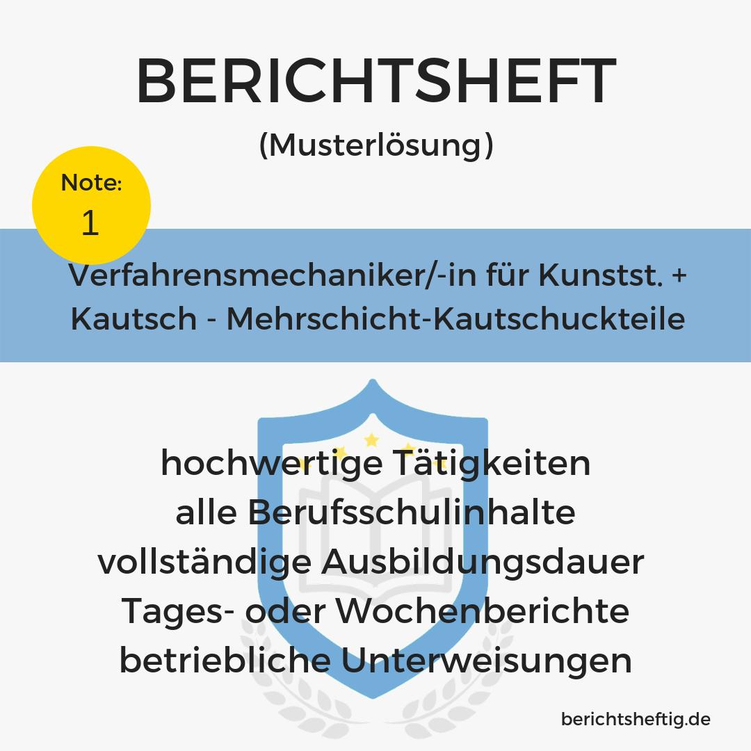 Verfahrensmechaniker/-in für Kunstst. + Kautsch. – Mehrschicht-Kautschuckteile